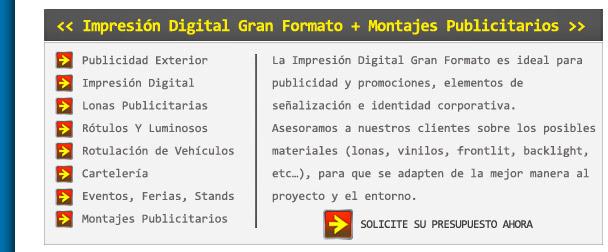 Impresión Digital Gran Formato y Montajes Publicitarios